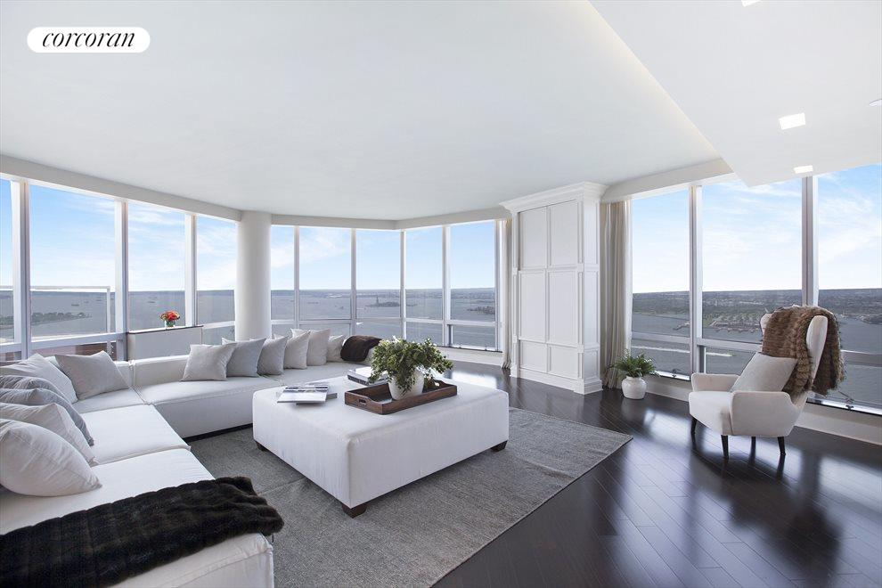 GRAND LIVING ROOM WITH DIRECT RIVER VIEWS
