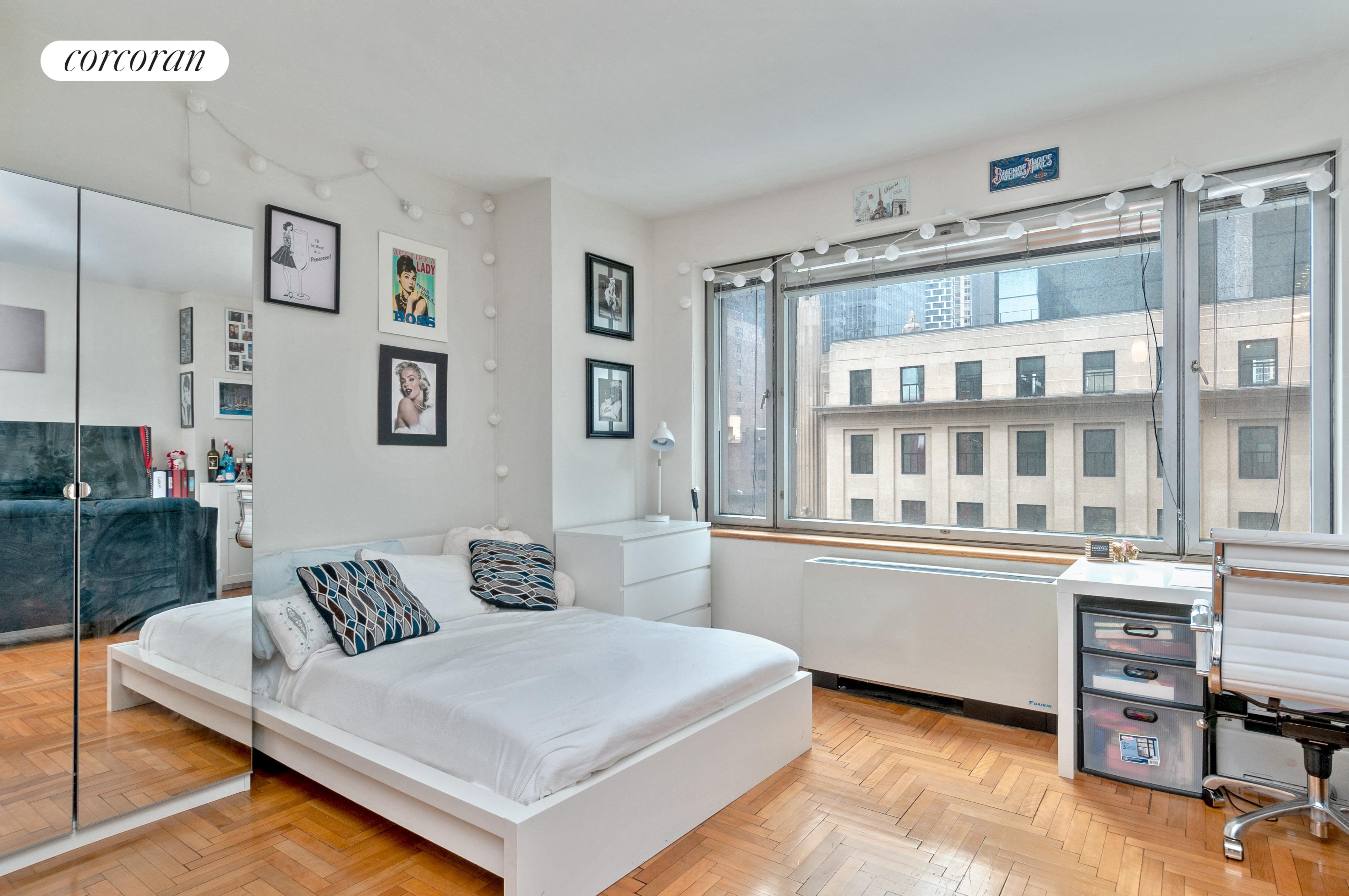 Bright South facing space available Unfurnished or Furnished! Cheerful Studio in a Full Service Condo. Updated Space that features Open Southern Exposure through an Oversized window, Renovated Kitchen with Stainless Steel Appliances including a Microwave and Dishwasher, Tons of Storage/Closet Space, Updated Bath, and Hardwood Floors. Guarantors Ok. Sorry, no pets.Amazing Columbus Circle location with Central Park just outside your door! Stroll to Lincoln Center, Rockefeller Center, Times Square, Carnegie Hall, Restaurant Row, and much much more. Easy access to all transportation, boutique shopping and fine dining in the Time Warner Center, Whole Foods, the Museum of Modern Art, Radio City Music Hall, and a myriad of activities in Central Park.The Full-Service Building offers all one could require in a primary or secondary residence. 24 Hour Doorman, Concierge, Fully equipped Gym, Yoga/Pilates Room, Punching & Speed Bags, Swimming Pool, Outdoor Sun-Deck, WiFi enabled Lounge, and Laundry. The building even has guest rooms available for rent for visiting family or friends!