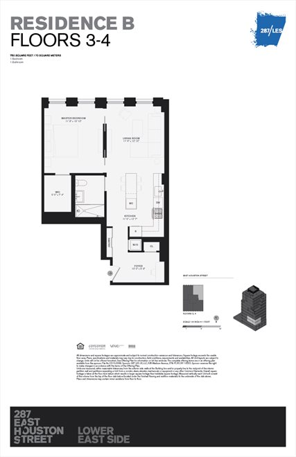 New York City Real Estate | View 287 EAST HOUSTON ST, #4B | Floorplan