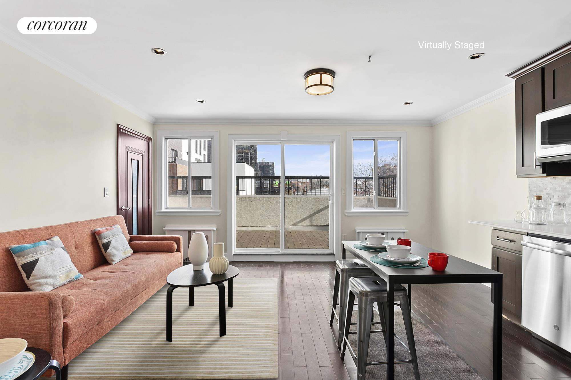180 19th Street, 7, Living Room to Large Terrace