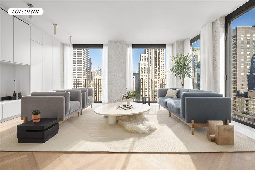 New York City Real Estate | View 16 West 40th Street, #27B | 2 Beds, 2.5 Baths