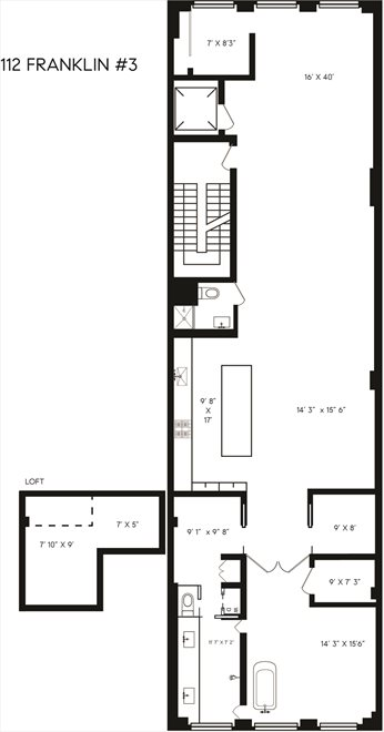 New York City Real Estate | View Franklin Street | Floorplan 1