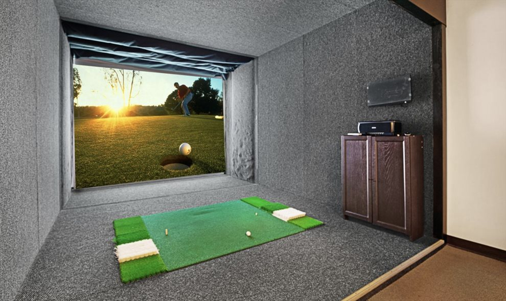 Golf simulator room