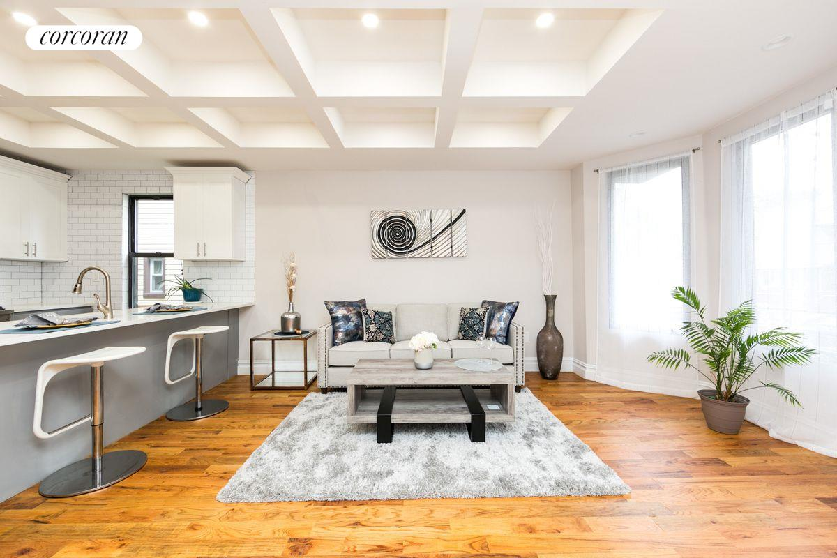 821 East 38th Street, 1, Beautiful coffered ceilings