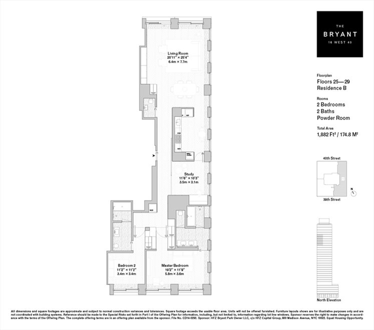 New York City Real Estate | View 16 West 40th Street, #27B | Floorplan