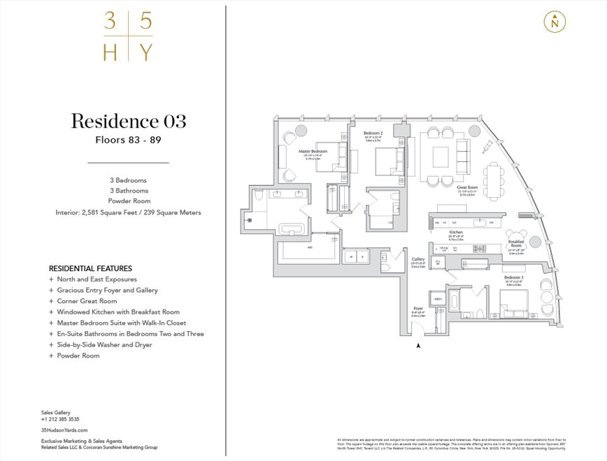 New York City Real Estate | View 35 HUDSON YARDS, #8603 | Floorplan