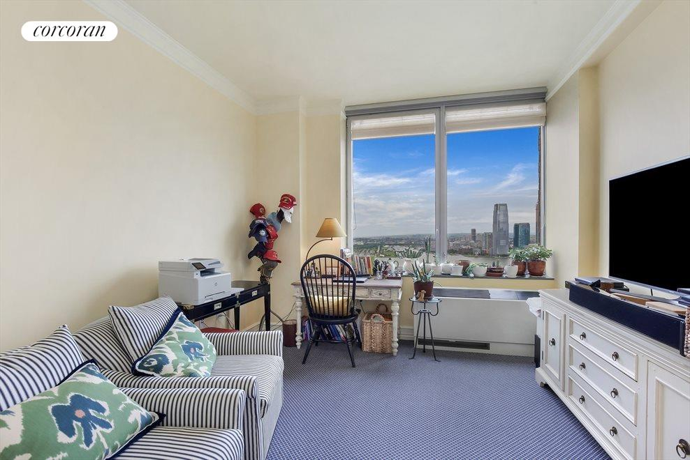 New York City Real Estate | View 30 West Street, #PH2G | 2nd Bedroom with Direct River Views