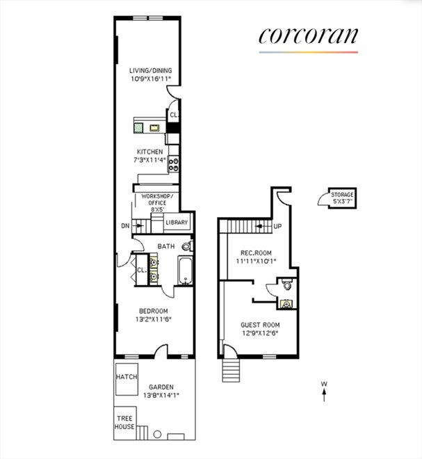 New York City Real Estate | View 487 6th Avenue, #1R | Floorplan