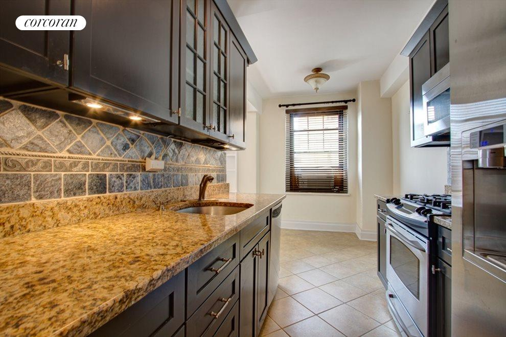 Renovated kitchen with dining area