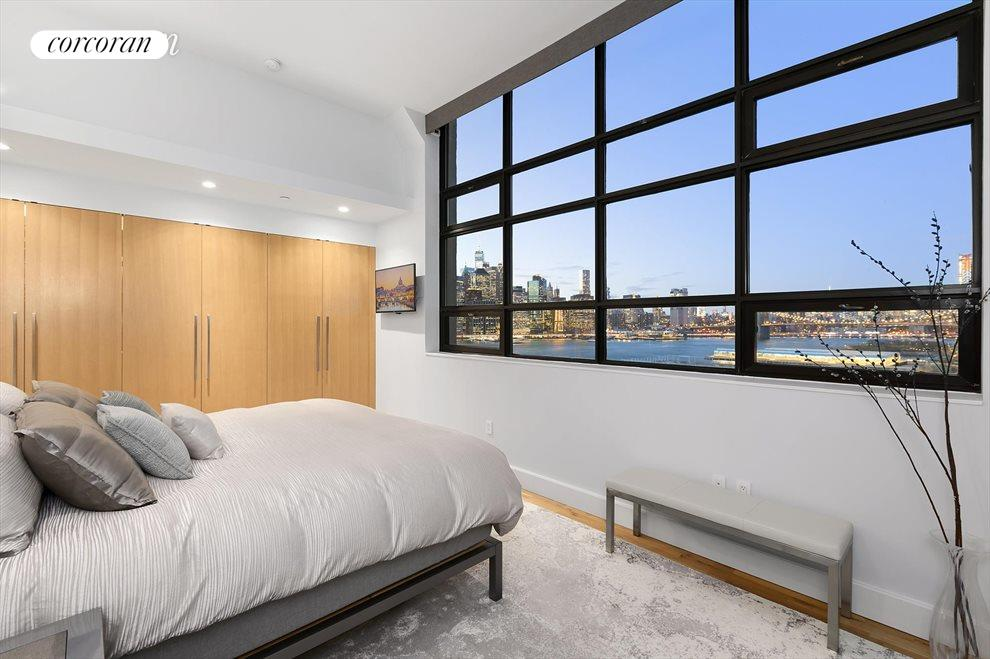 Master bedroom, North protected views of Manhattan