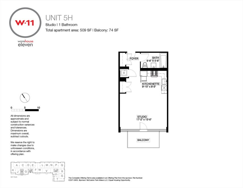 New York City Real Estate | View 214 North 11th Street, #5-H | Floorplan