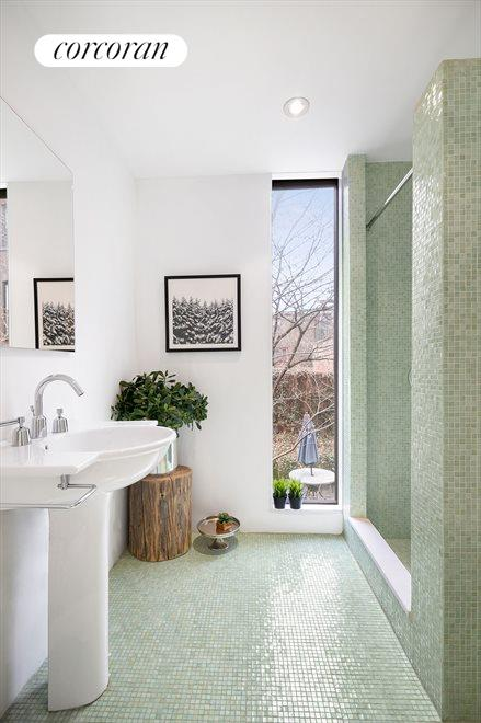 Renovated and Windowed Bathroom