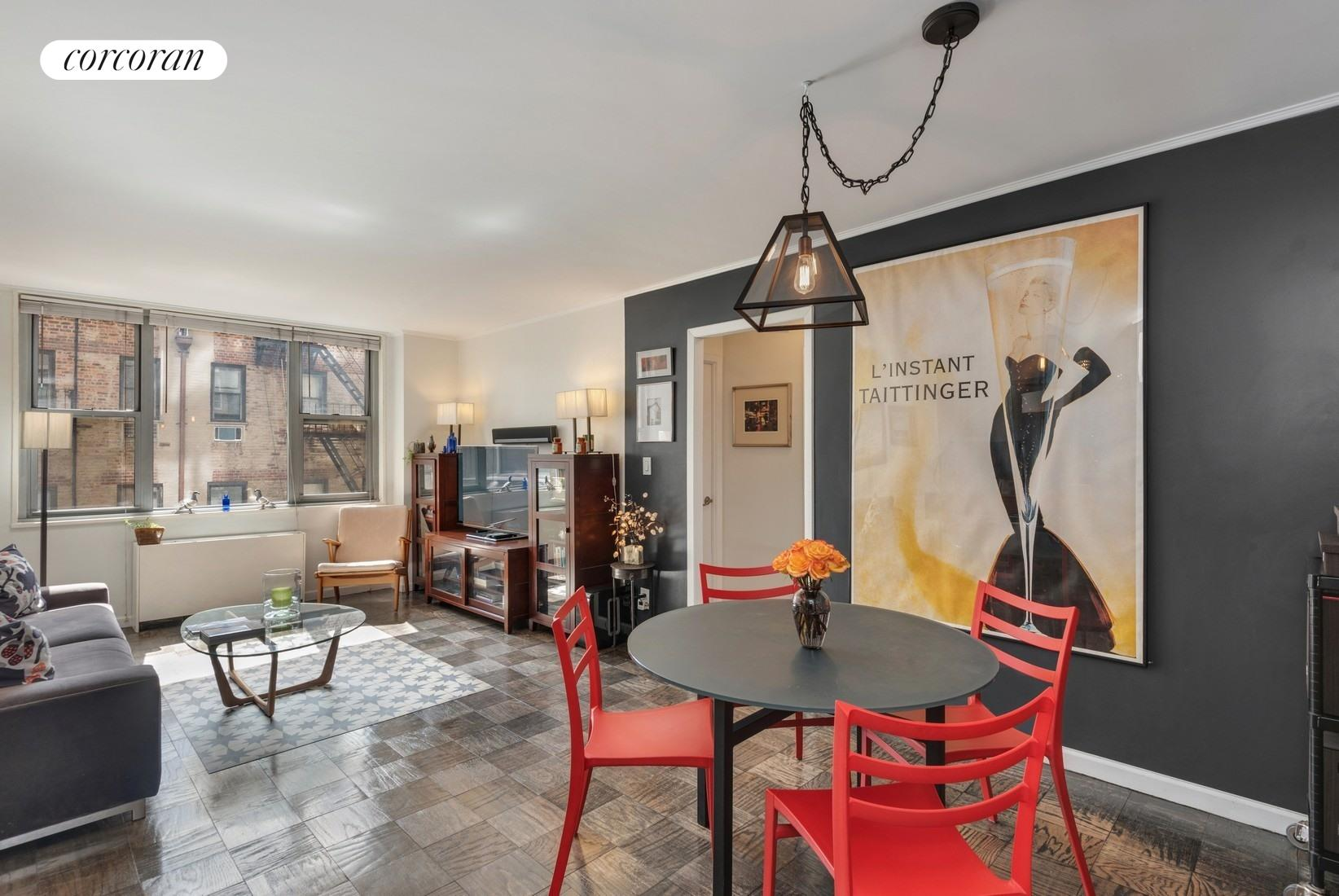 444 East 86th Street, 6C, Bright Living/Dining Room