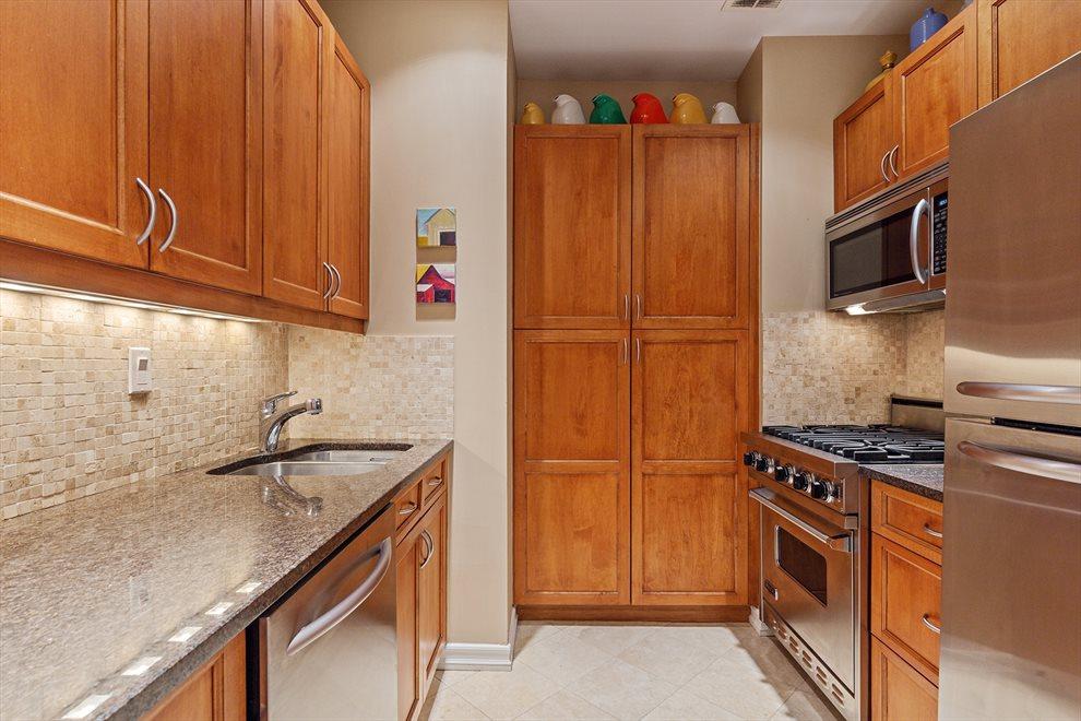 Square, textural renovated Kitchen
