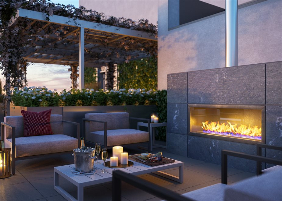 Rooftop Terrace with Fireside Seating
