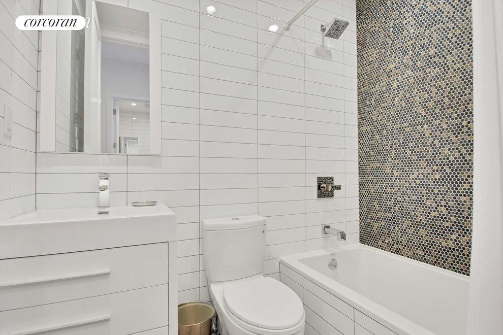 Spa-Like Bathroom w/ Mosaic Tiled Shower