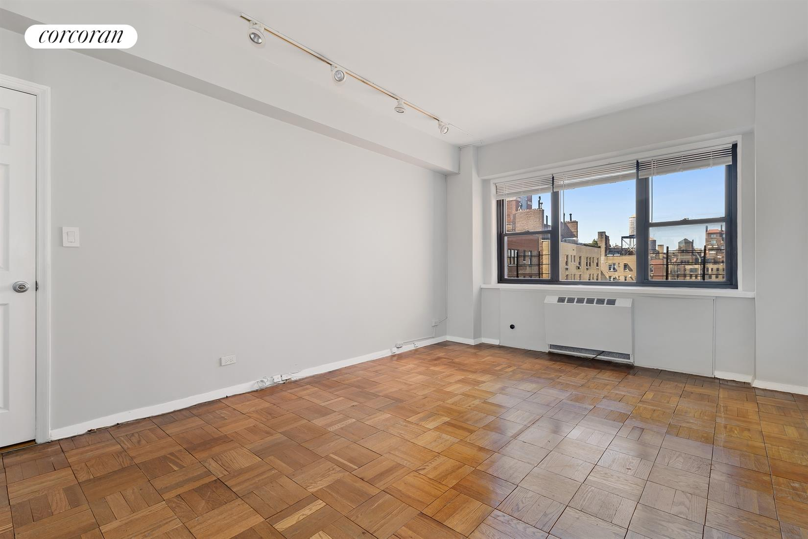 165 East 72nd Street, 17L, Living Room with Decorative Fire Place