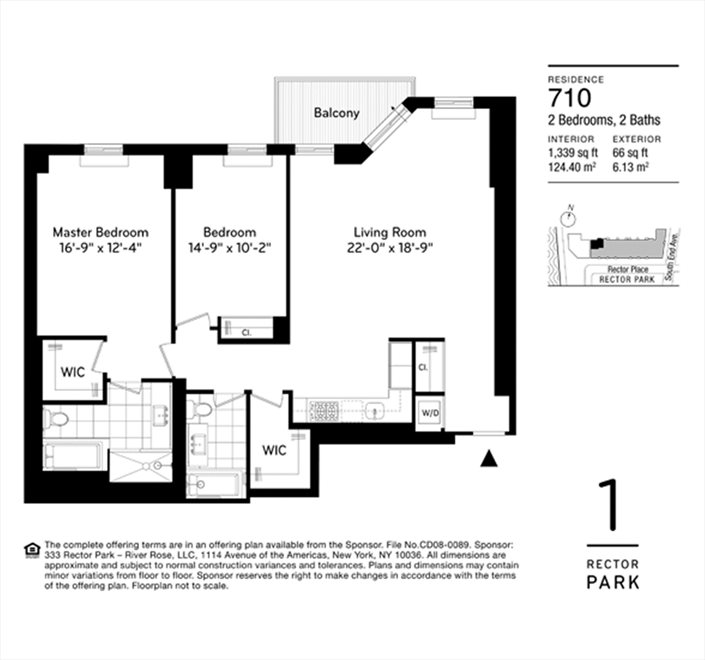 New York City Real Estate | View Rector Place | Floorplan 2