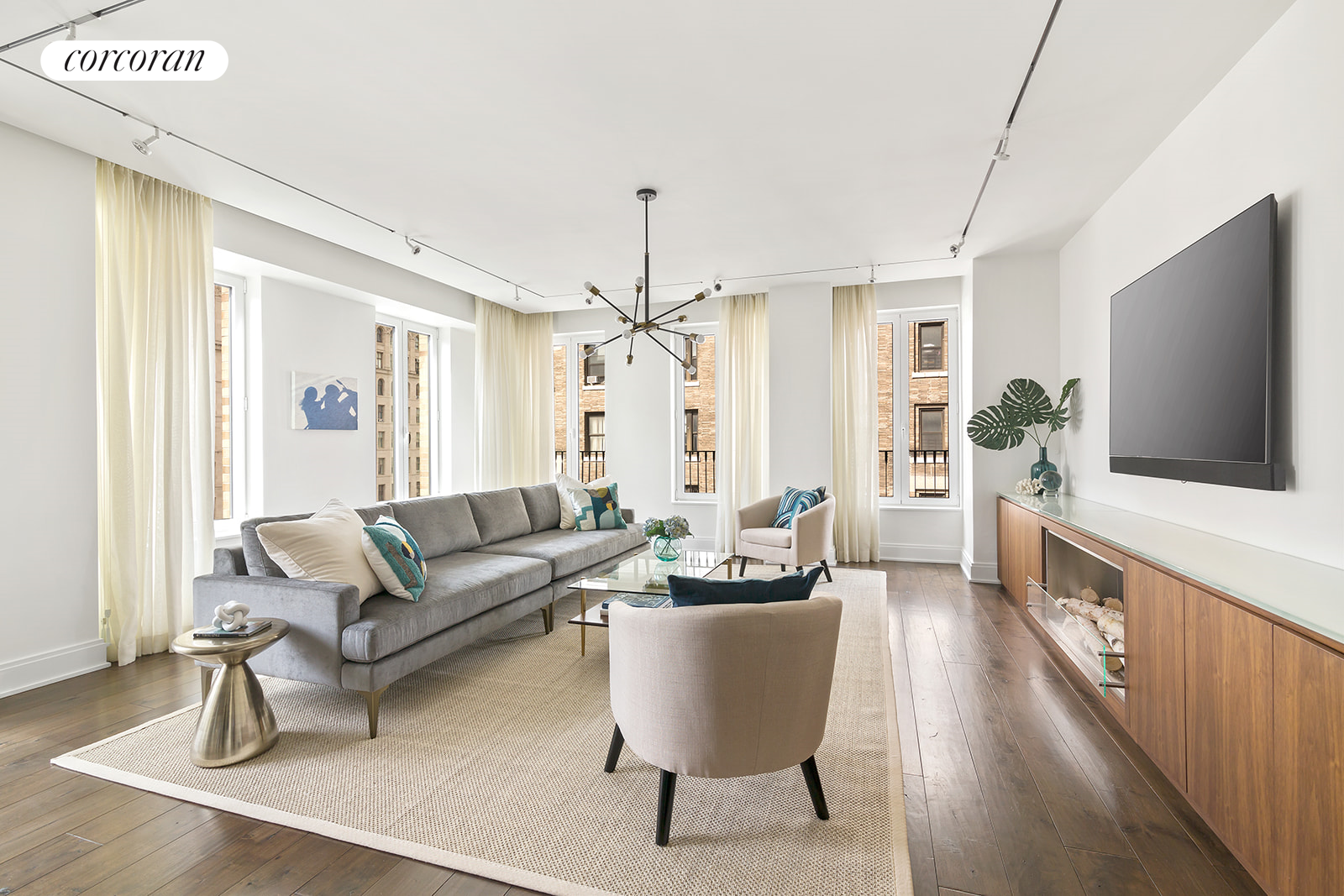 230 West 78th Street, 9A, Corner living room