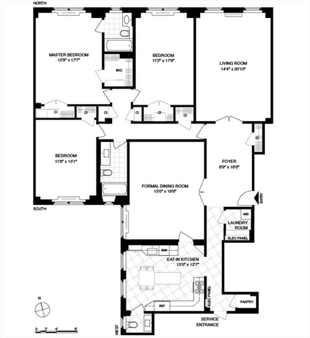 New York City Real Estate | View Eastern Parkway #1C | Floorplan 1