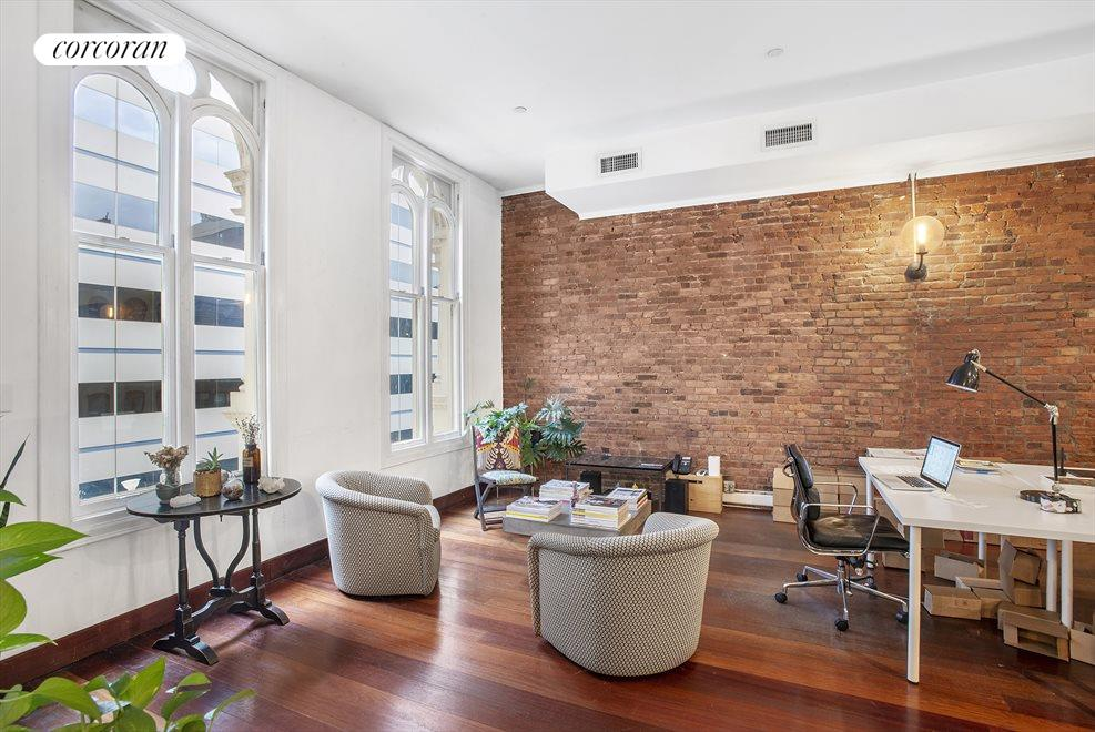 Office space with exposed brick!