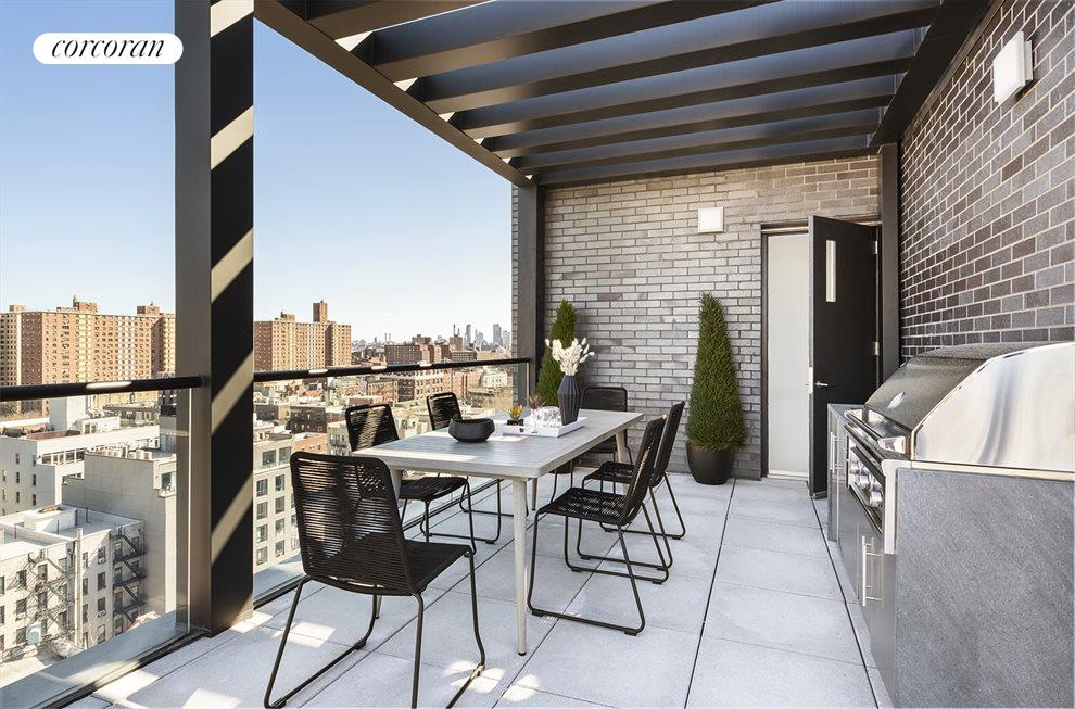 479sf roof terrace  with outdoor kitchen