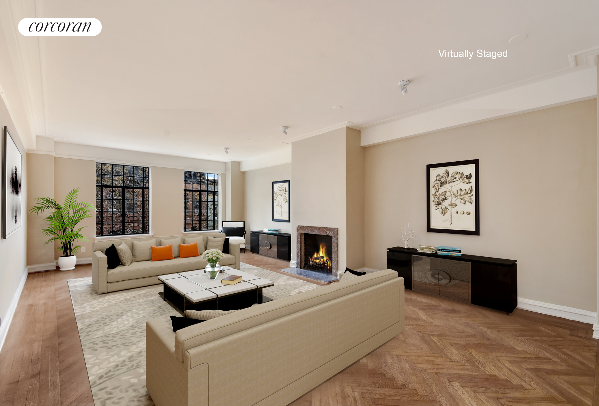 300 Central Park West, 5A, Living Room