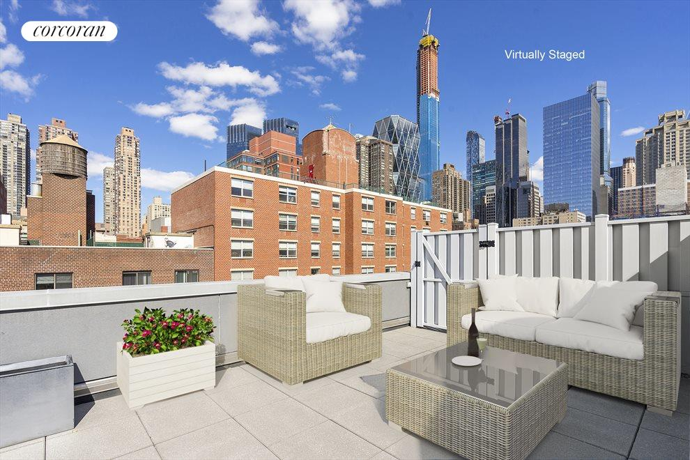 New York City Real Estate | View 425 West 53rd Street, #PH2 | 3 Beds, 3 Baths