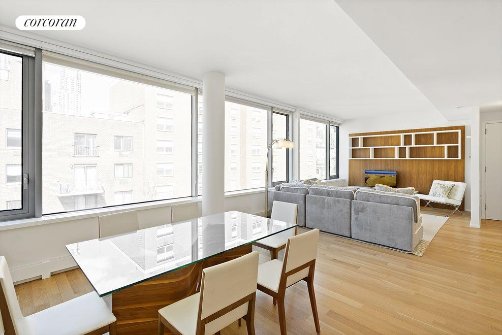 New York City Real Estate | View 425 West 53rd Street, #PH2 | Sundrenched open layout