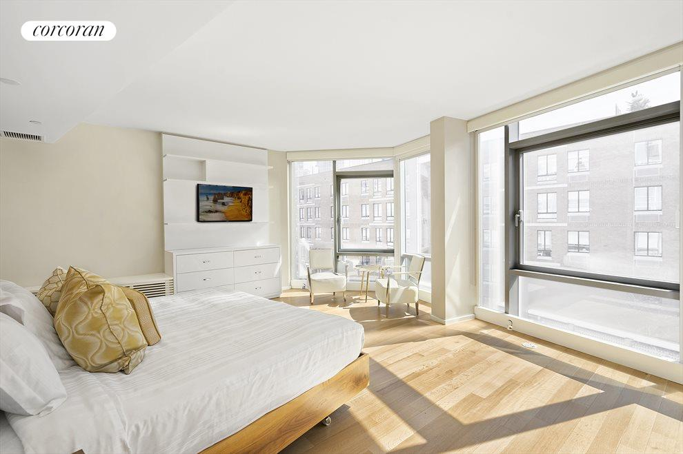 New York City Real Estate | View 425 West 53rd Street, #PH2 | floor-to-ceiling windows with  south exposure