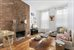 33 West 88th Street, One Bedroom Apartment Living Room