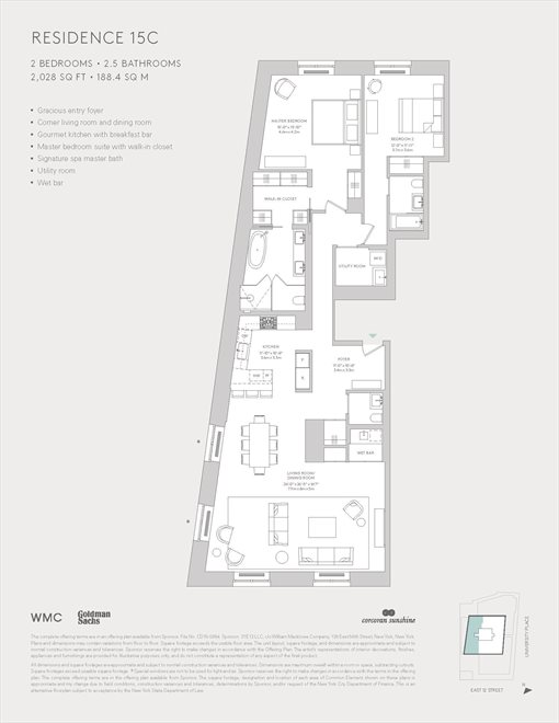 New York City Real Estate | View 21 East 12th Street, #15C | Floorplan
