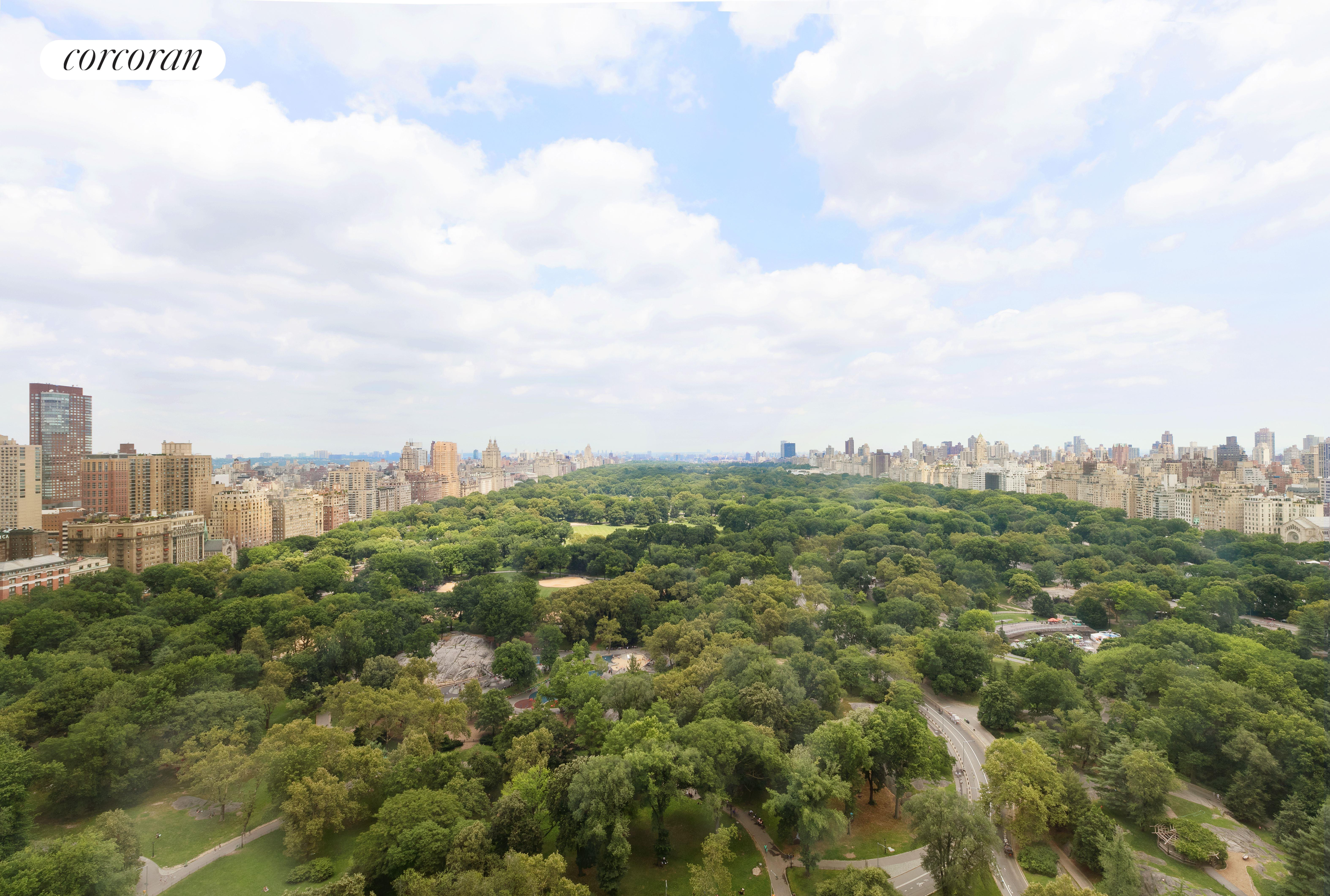 160 Central Park South, 3101/18, living room, bedroom view