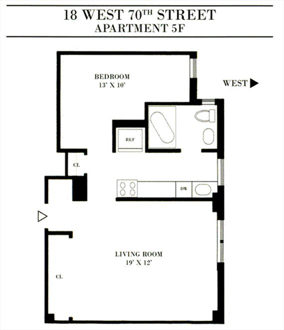 New York City Real Estate | View West 70th Street | Floorplan 1