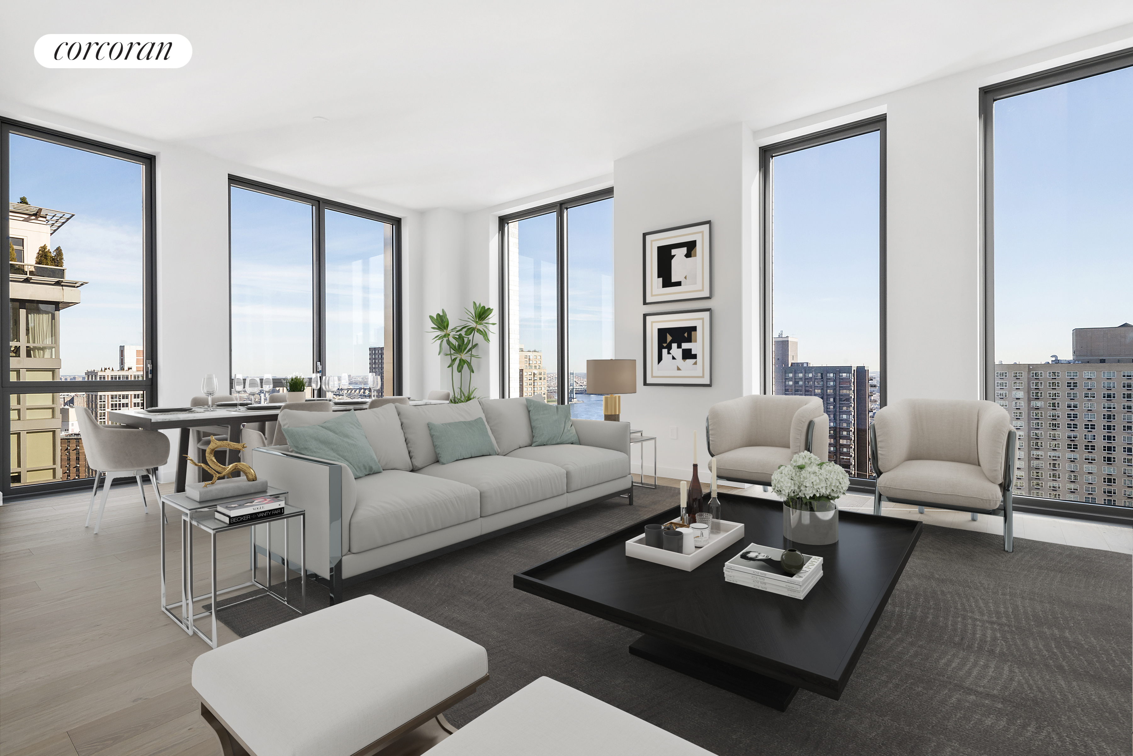 360 East 89th Street, 27A, Living Room