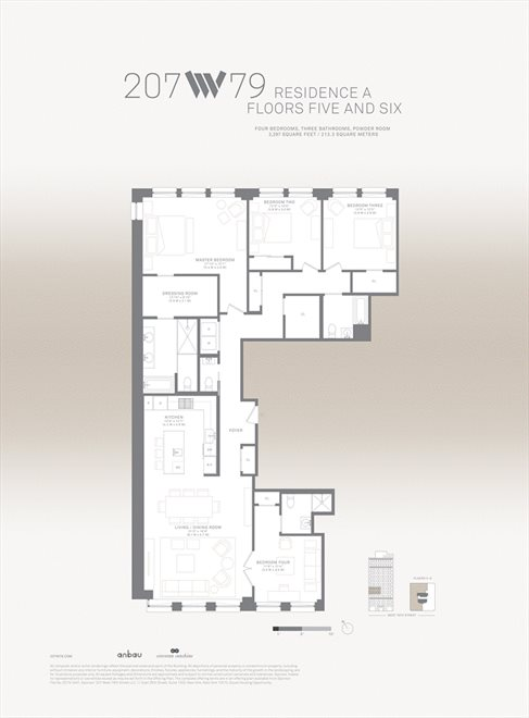 New York City Real Estate | View 207 West 79th Street, #5A | Floorplan