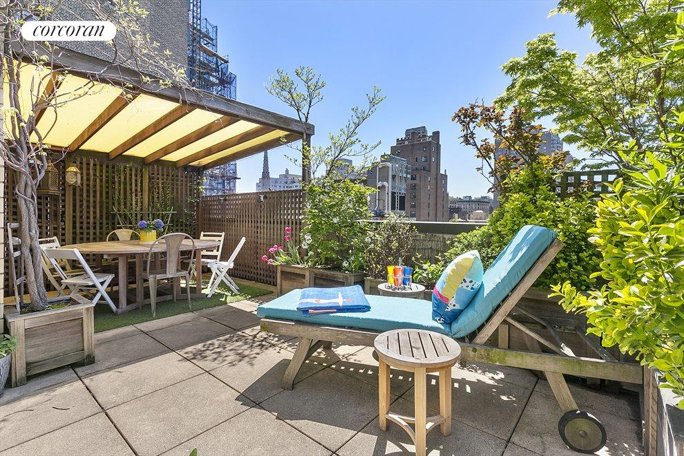 New York City Real Estate | View 44 East 12th Street, #PHC | Terrace w portico
