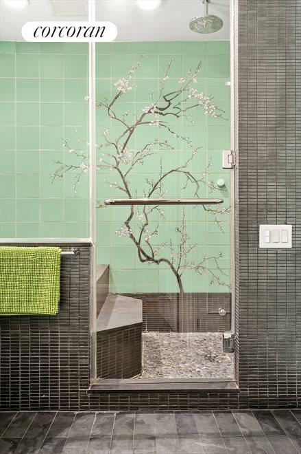 Japanese soaking tub & steam room; one of 4 baths
