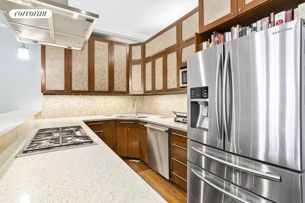 Custom kitchen, venting hood