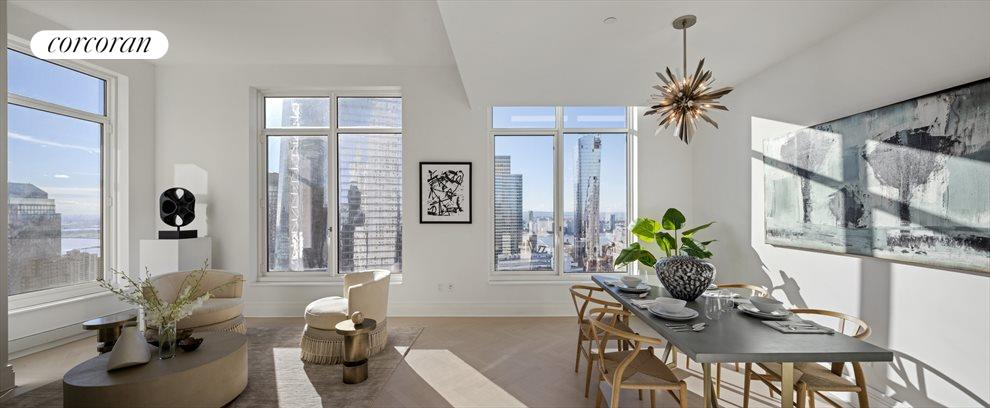 New York City Real Estate | View 30 PARK PLACE, #51E | Living/Dining