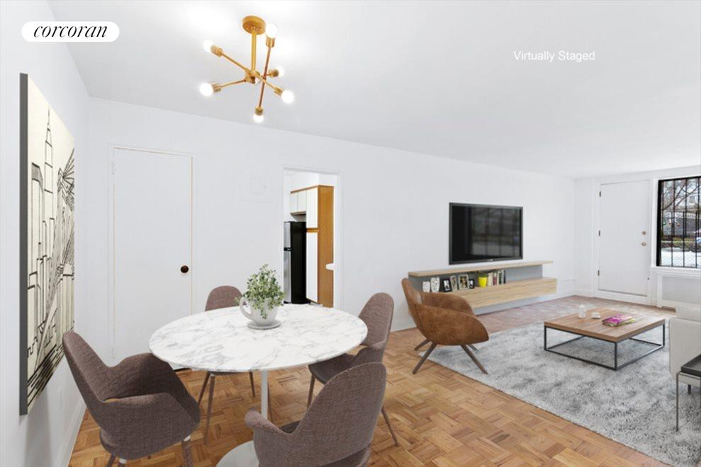 New York City Real Estate | View 415 Beverley Road, #1G | Living/Dining Area