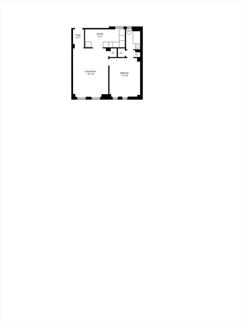 New York City Real Estate | View West 72nd Street | Floorplan
