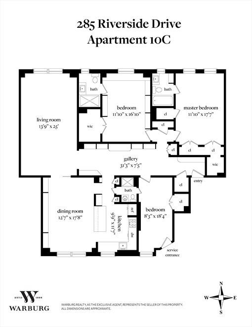 New York City Real Estate | View Riverside Drive | Floorplan