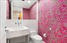 240 Park Ave South, 5C, Powder room with stunning wallpaper