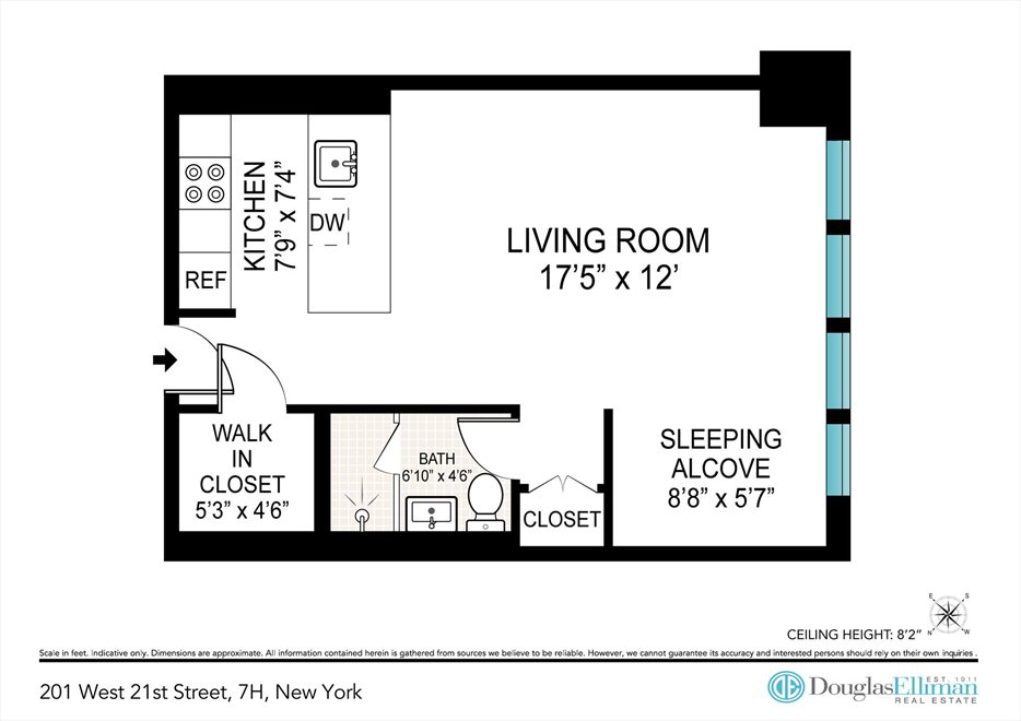 New York City Real Estate | View West 21st Street | Floorplan 2