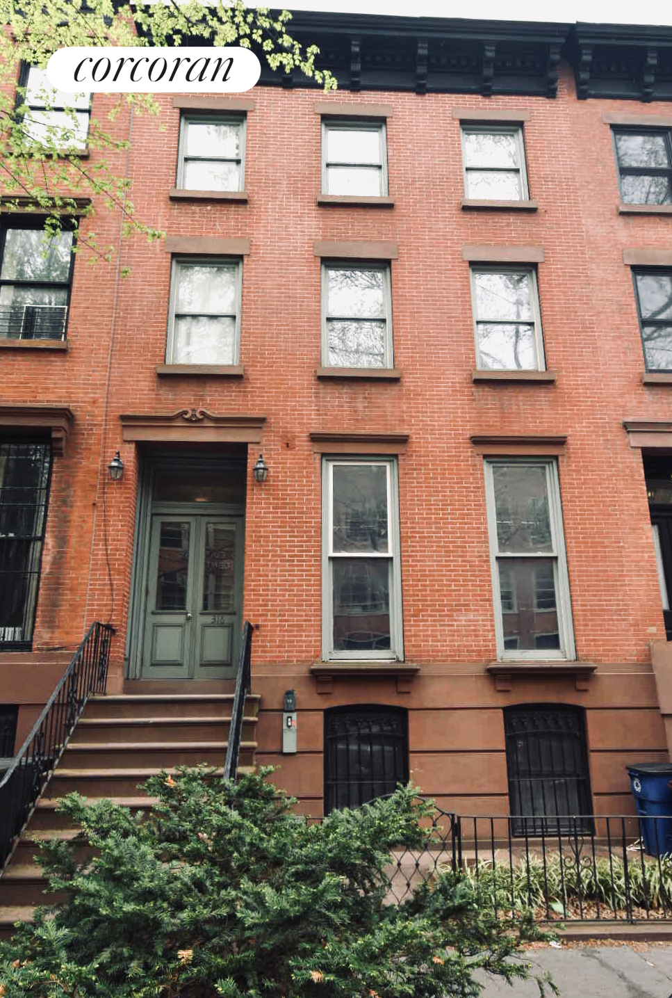 316 Carlton Avenue, 22' wide landmarked townhouse