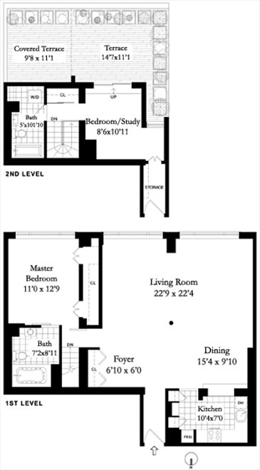 New York City Real Estate | View 44 East 12th Street, #PHC | Floorplan 1