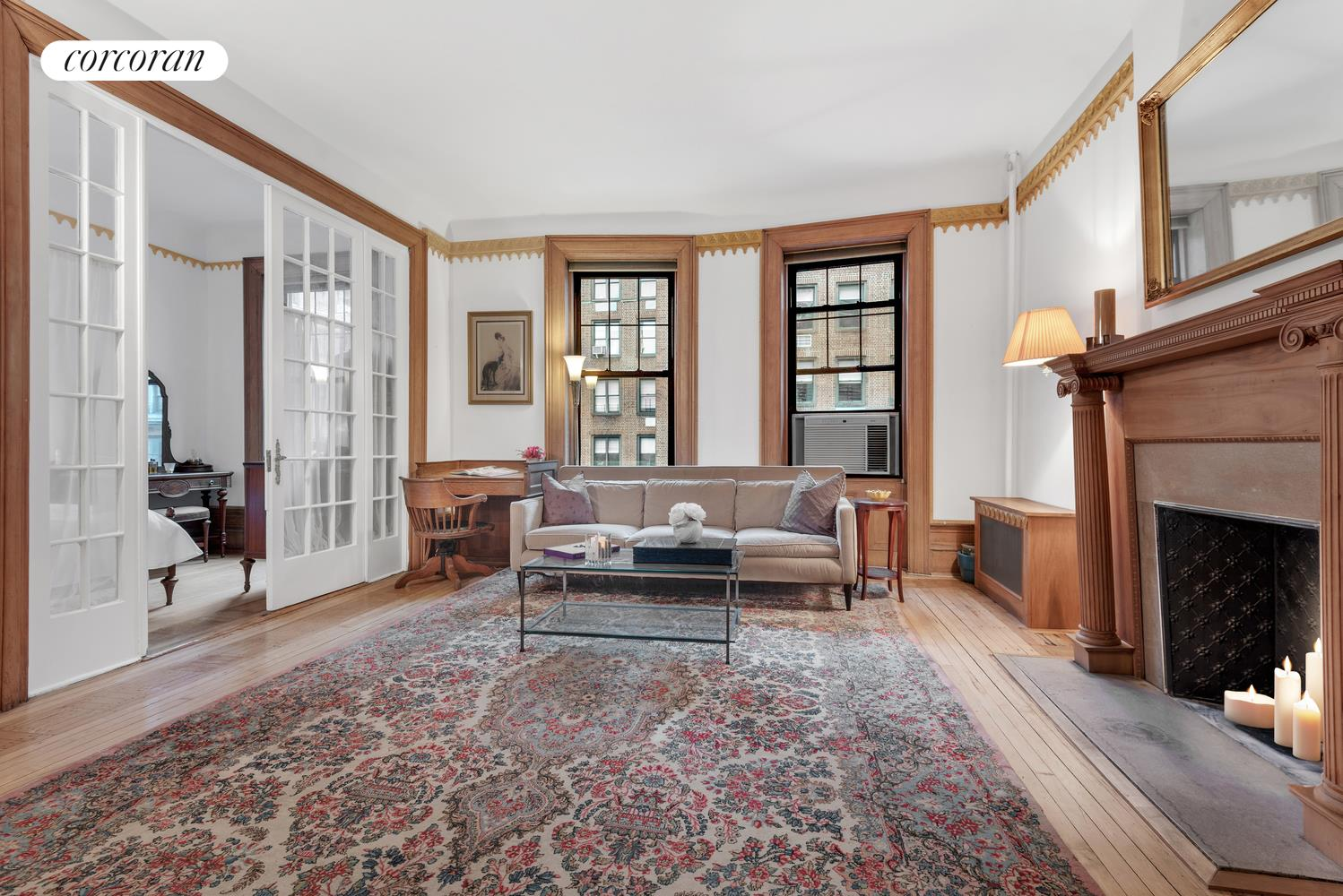 9 East 97th Street, 5D, Virtually Staged Living Room
