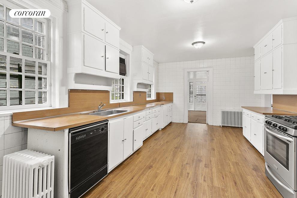 Pass-through windowed kitchen