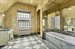 1712 Ditmas Avenue, Master bath with vintage hand-painted wallpaper
